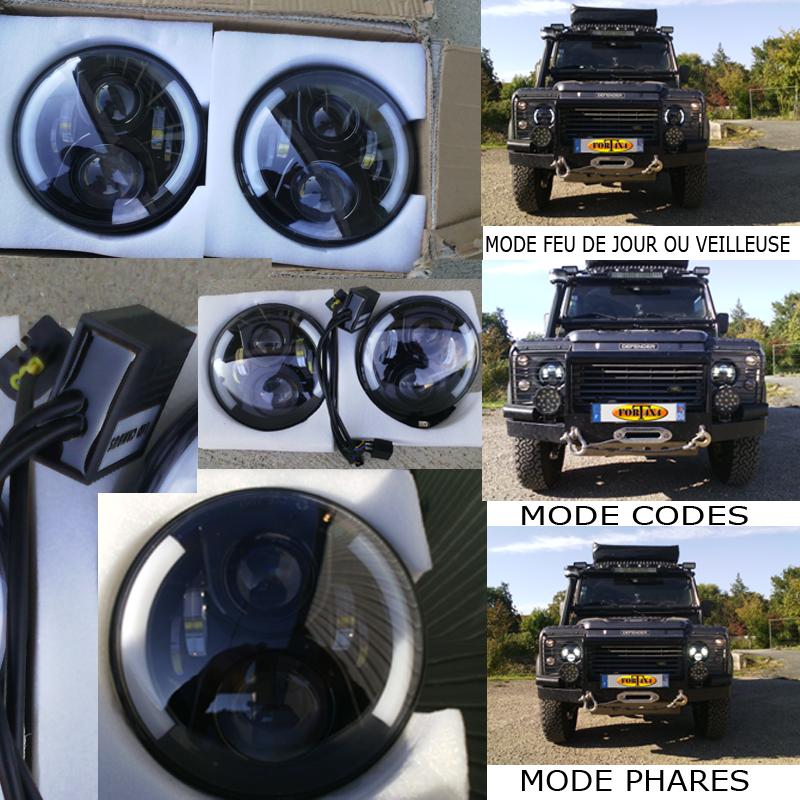 Phares Led Jeep Wrangler Phares Led Defender Phares Led