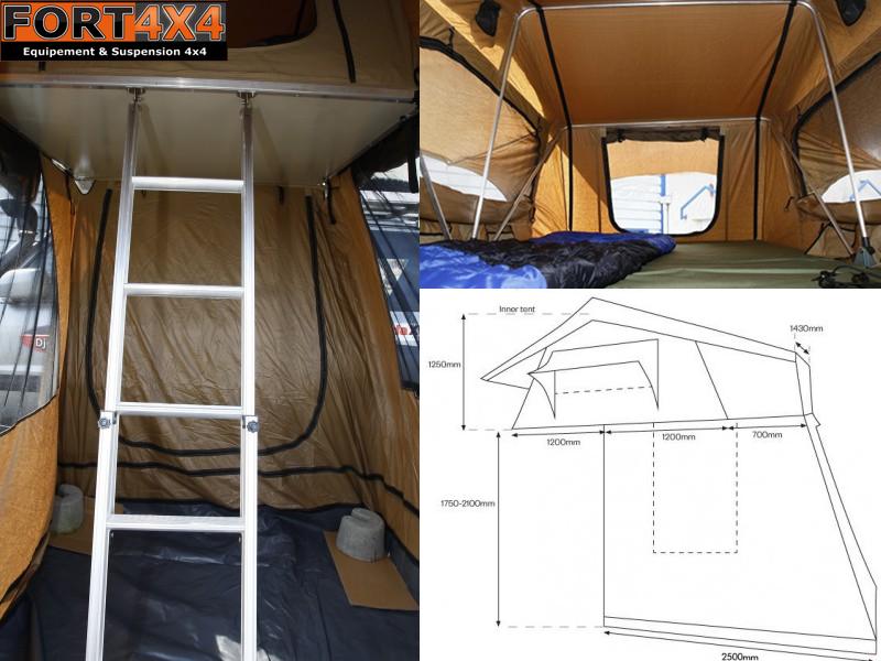 tente de toit djebel line fort 4x4 accessoires. Black Bedroom Furniture Sets. Home Design Ideas