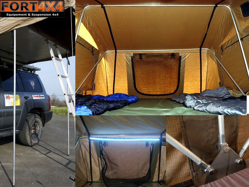 tente de toit djebel line fort 4x4 accessoires quipements suspensions 4x4. Black Bedroom Furniture Sets. Home Design Ideas