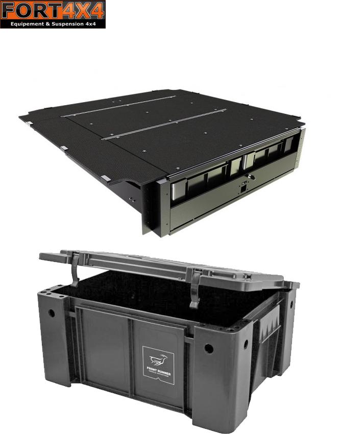 plateau coulissant avec boites de rangement pour benne de pick up fort 4x4 accessoires. Black Bedroom Furniture Sets. Home Design Ideas